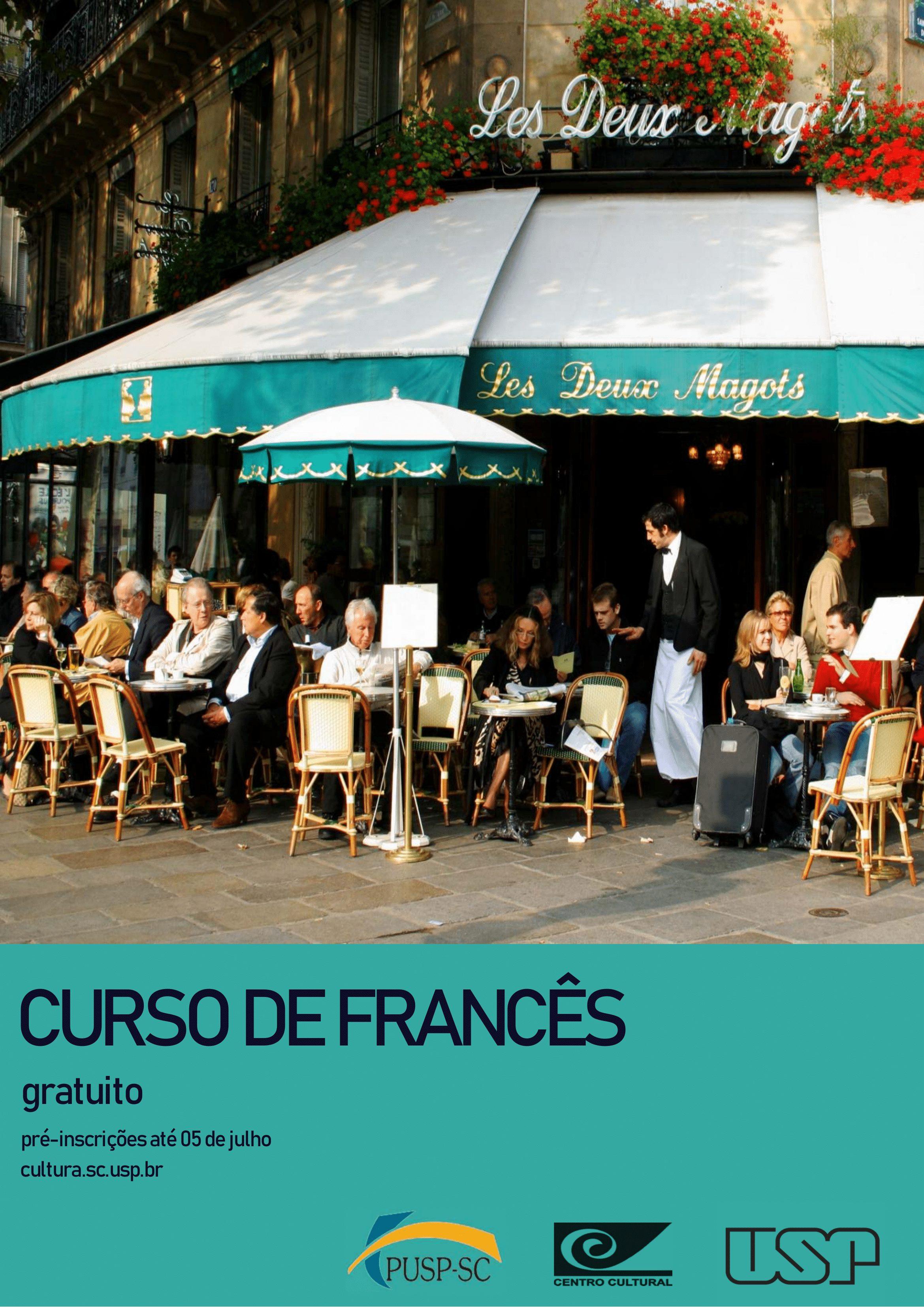 Inscrições para o Curso de Francês gratuito – Centro Cultural (PUSP)