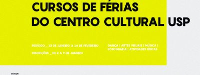 INSCRIÇÕES ABERTAS - Cursos de Férias 2020
