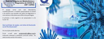 IQSC oferece bolsas para atuar em Rede de Pesquisa contra a COVID-19