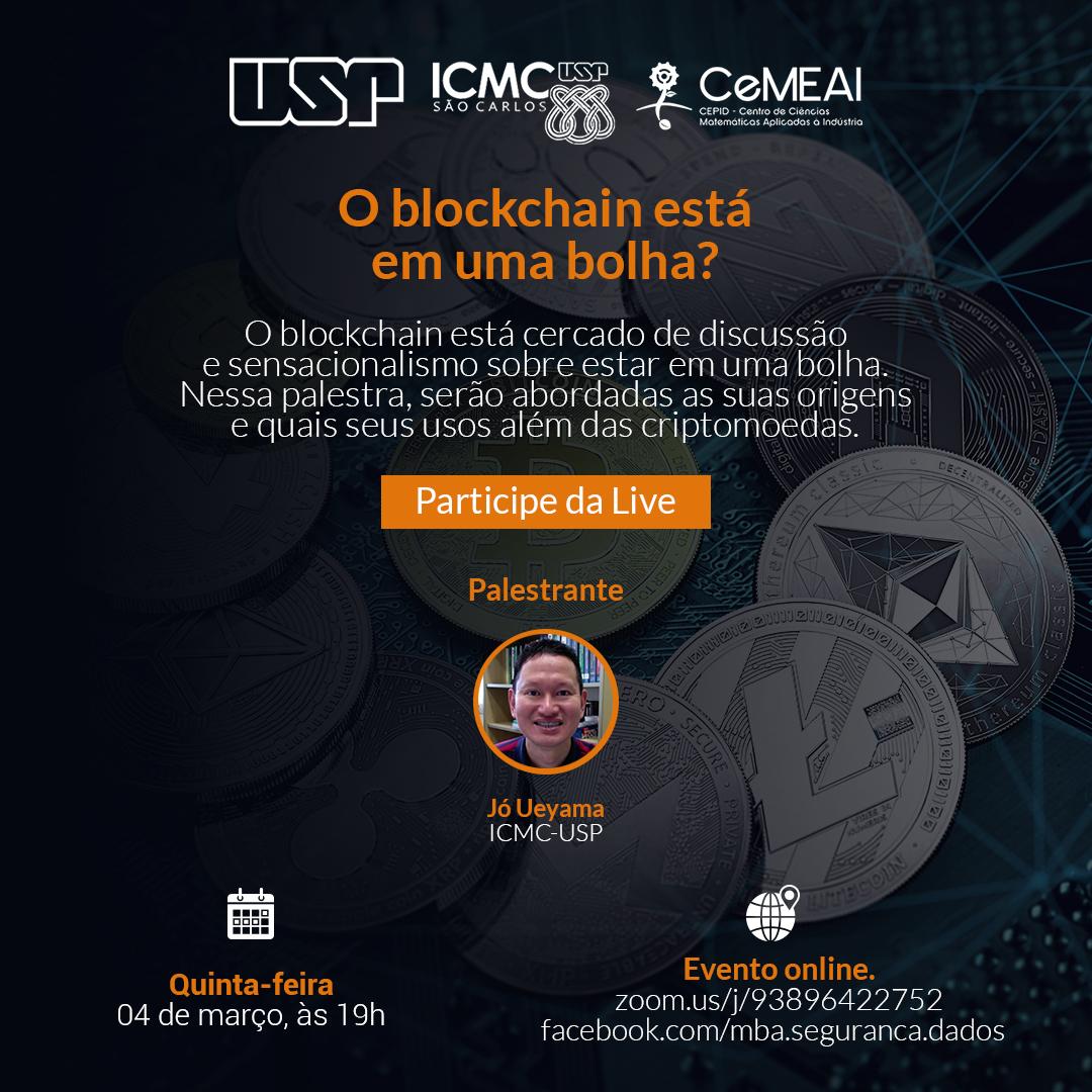 O blockchain está em uma bolha? Participe da live com especialista da USP