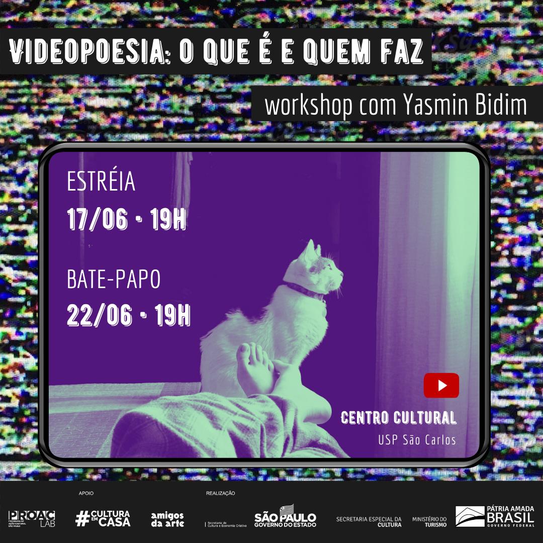 Workshop online Videopoesia: o que é quem faz.