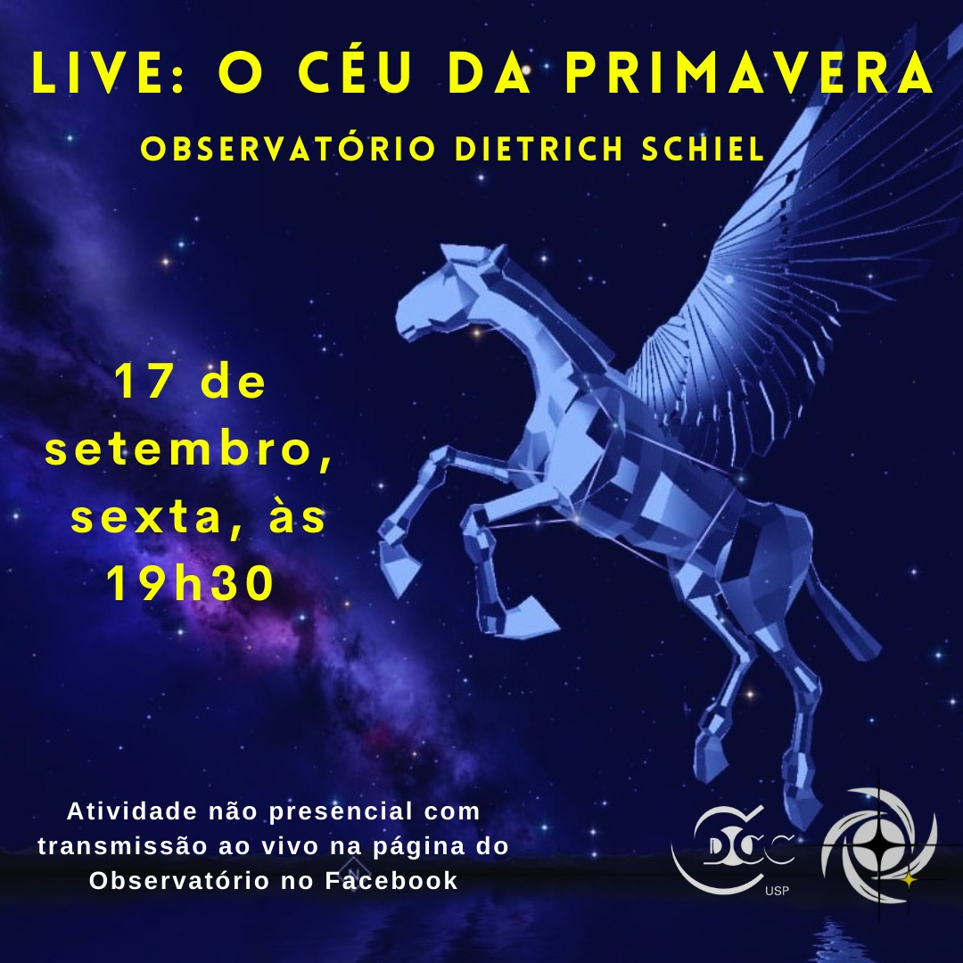 Observatório fará live sobre o céu da primavera nesta sexta-feira, 17 de setembro
